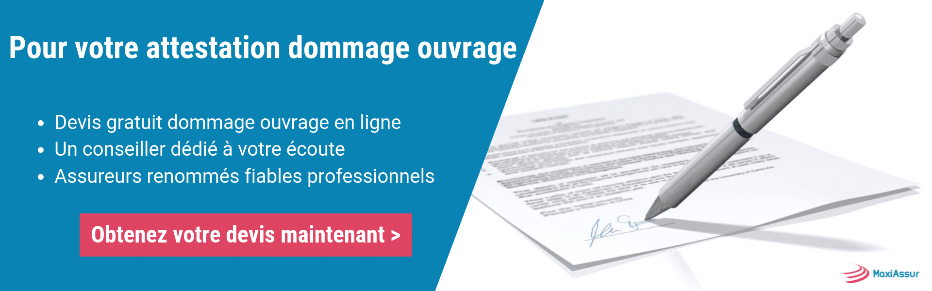 attestation dommage ouvrage
