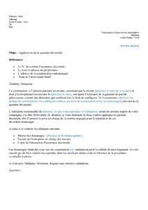 lettre type garantie décennale déclaration de sinistre