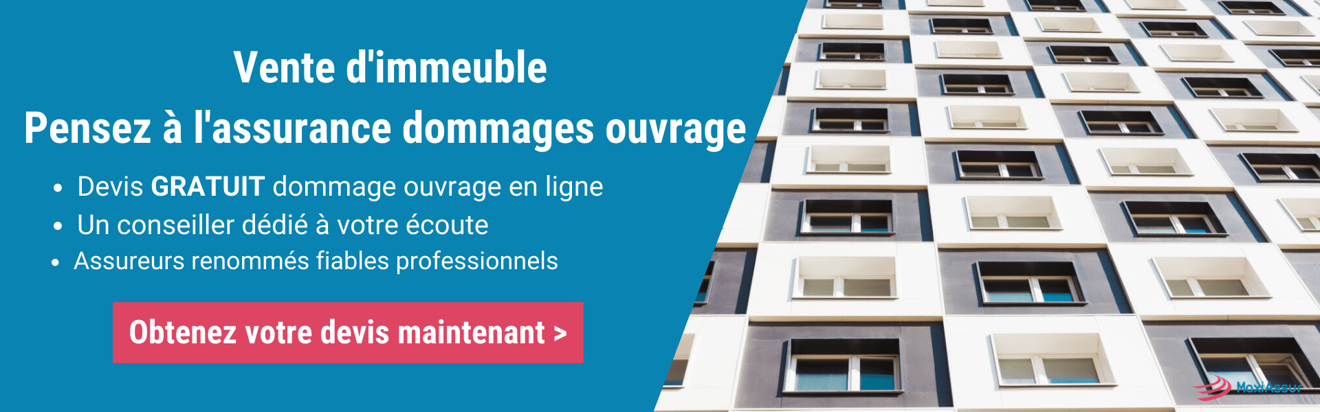 Assurance dommage ouvrage vente immeuble