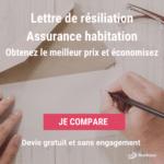 Lettre de résiliation d'assurance habitation