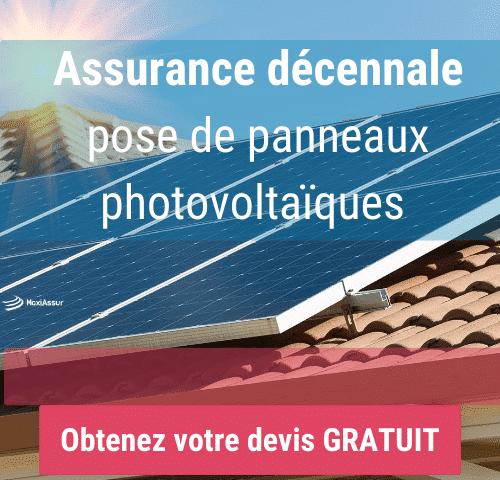 Assurance décennale panneaux photovoltaïques