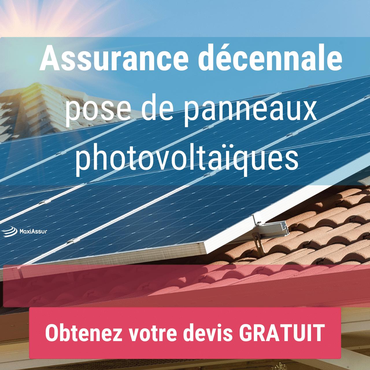 décennale panneaux photovoltaïque