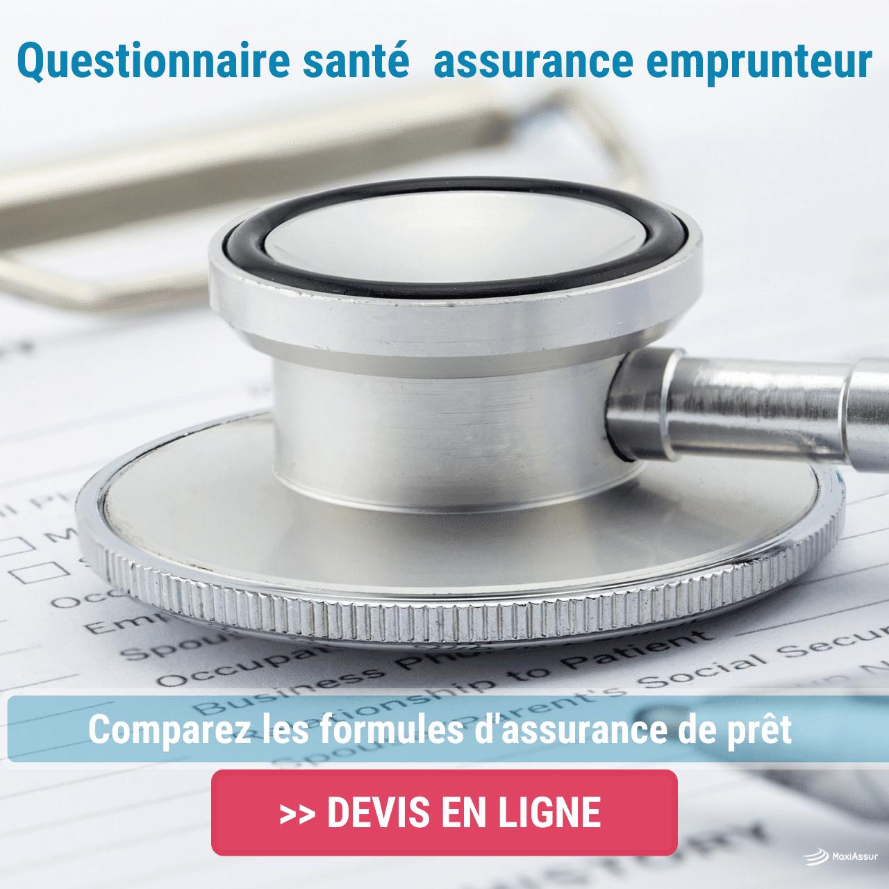 assurance emprunteur questionnaire médical