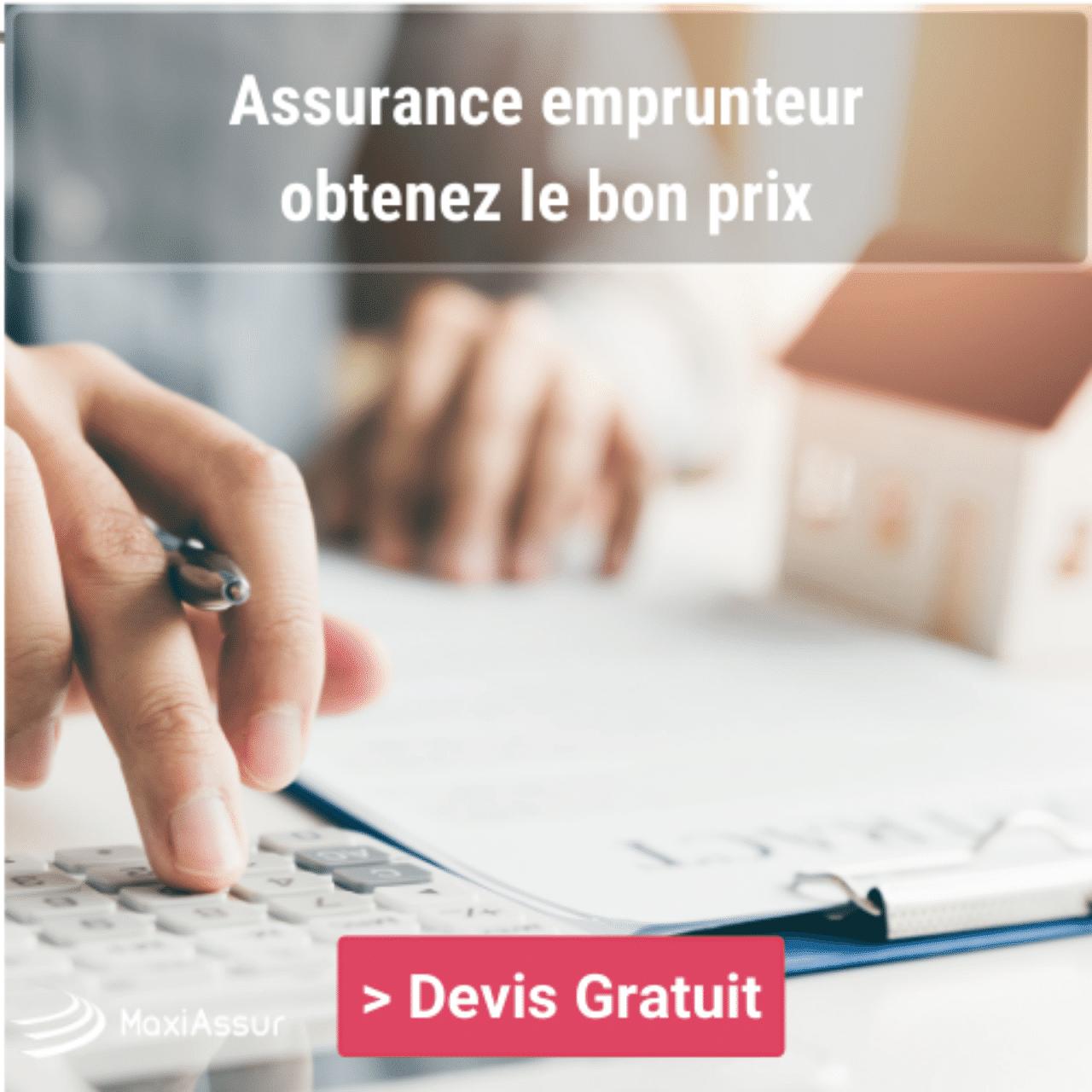 déduire prime assurance emprunteur
