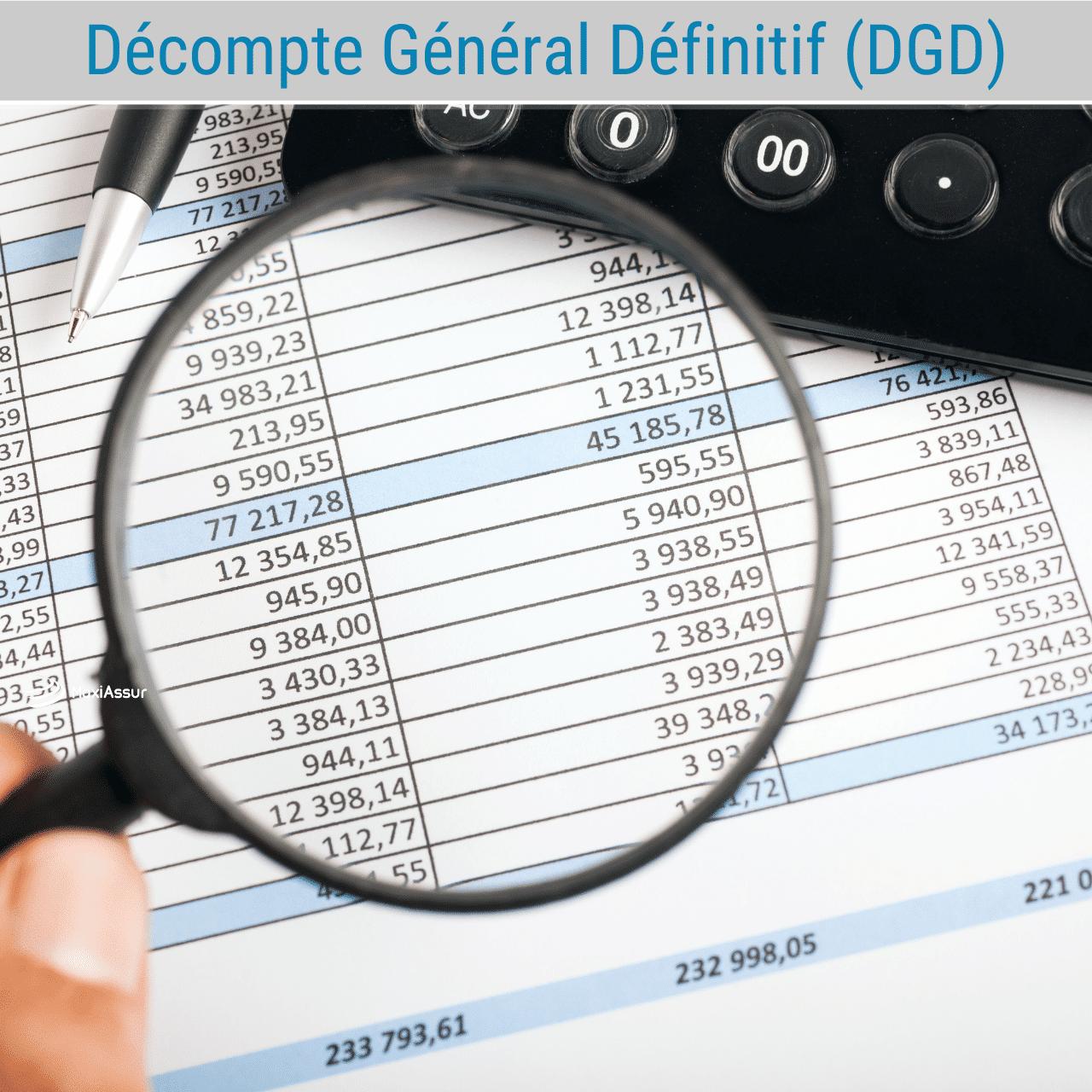 Décompte Général Définitif (DGD)