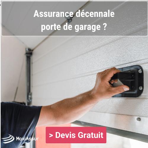 La porte de garage est-elle couverte par la garantie décennale