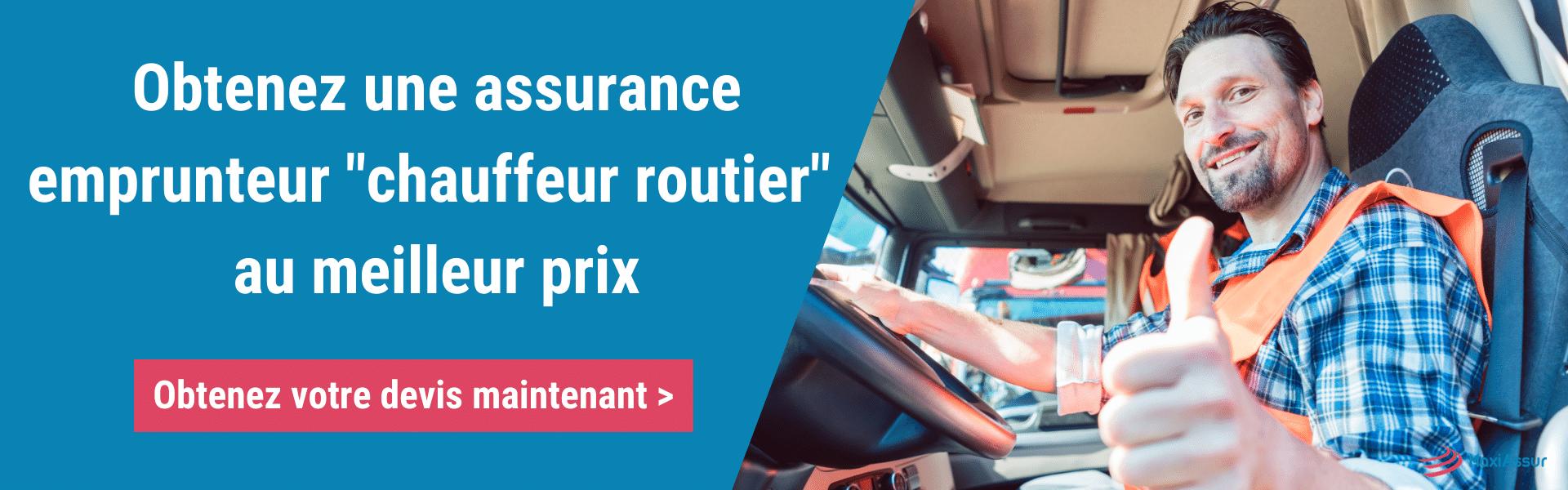 Trouver assurance emprunteur chauffeur routier